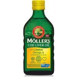 Cod Live Oil Omega 3 cu aroma de lamaie x 250 ml Moller's