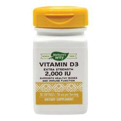 Vitamin D3 2000UI x 30cps Natures Way