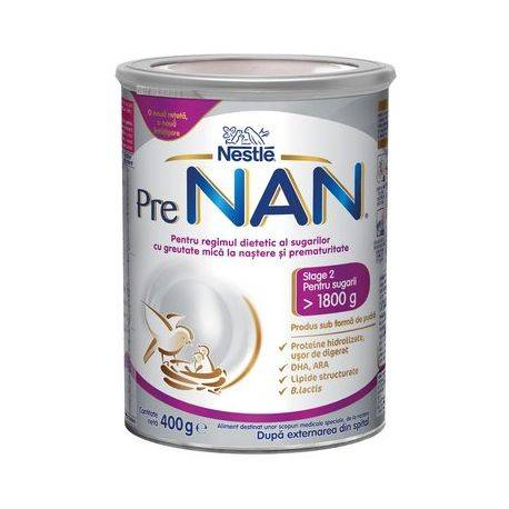 PRE NAN de la nastere x 400g Formula de lapte praf Nestle