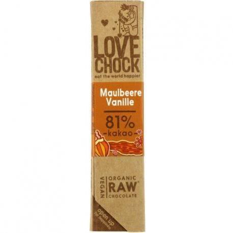 Ciocolata Eco raw-vegan cu dude si vanilie fara gluten x 40g Lovechock