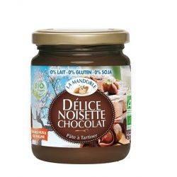 Crema de ciocolata si alune fara gluten, lactoza, soia x 300g La Mandorle