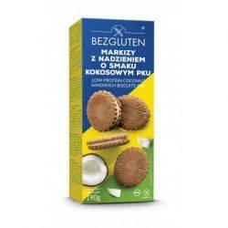 Biscuiti cu crema de nuca de cocos PKU fara gluten x 190g Bezgluten