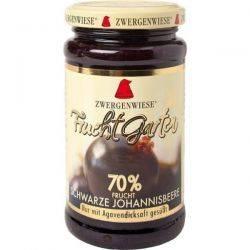 Gem de coacaze negre bio indulcit cu nectar de agave fara zahar fara gluten x 225g Zwergenwiese
