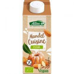 Crema de migdale lichida pentru gatit fara gluten x 200ml Allos