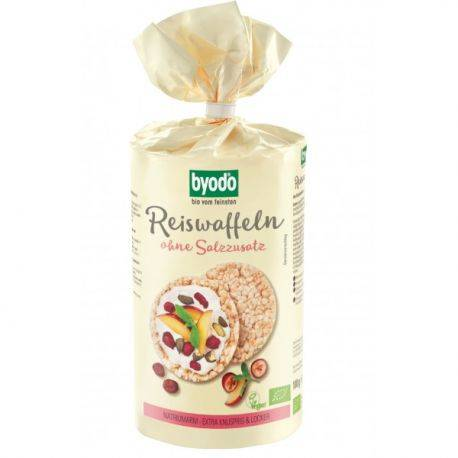 Vafe din orez integral fara sare fara gluten x 100g Byodo