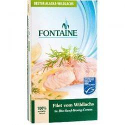 File de somon salbatic in sos bio de mustar si miere x 200g Fontaine