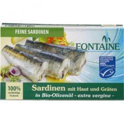 Sardine in ulei bio de masline x 120g Fontaine
