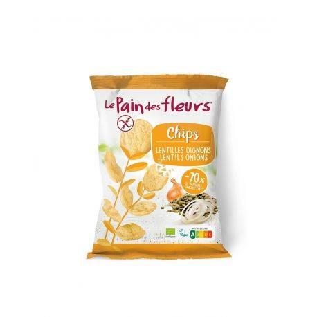 Chipsuri de linte cu ceapa fara gluten x 50g Le Pain des Fleurs