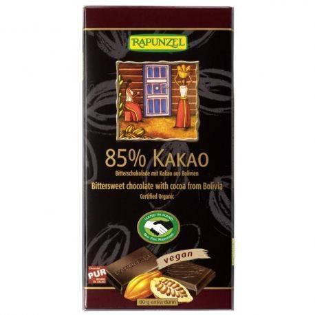 Ciocolata bio amaruie 85% cacao x 80g Rapunzel