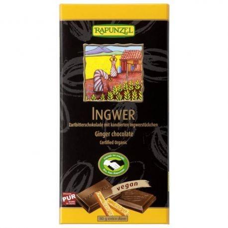 Ciocolata amaruie 55% cacao si ghimbir x 80g Rapunzel