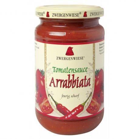 Sos bio de tomate Arrabbiata cu ardei iute fara gluten x 340ml Zwergenwiese