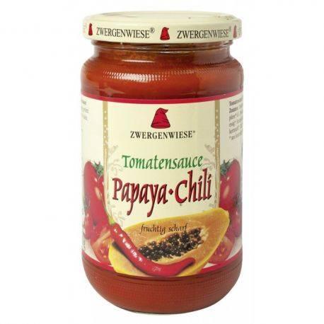 Sos bio de tomate Papaya-chili fara gluten x 340ml Zwergenwiese