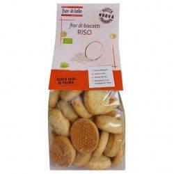 Biscuiti Bio Fior di biscotti cu orez, fără lactoza, fără ouă, fără drojdie, fara ulei de palmier x 250g Fior di Lotto