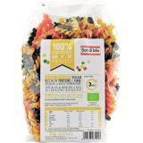 Paste bio Fusilli mix de linte (galbena, neagra, rosie) fara gluten vegan x 225g Fior di Loto