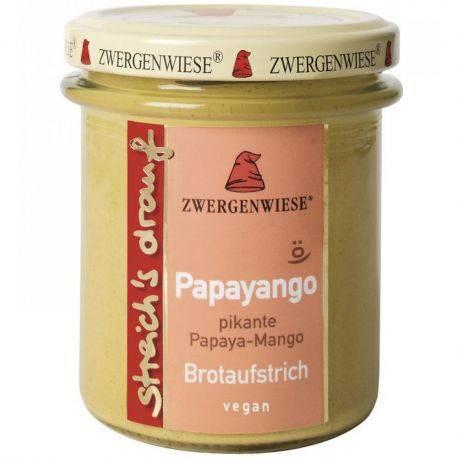 Crema tartinabila vegetala Papayango cu papaya picanta si mango fara gluten bio x 160g Zwergenwiese