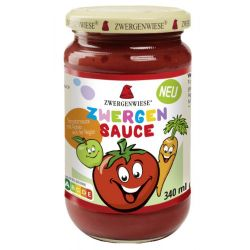 Sos de tomate pentru copii cu mere si morcovi bio x 340ml Zwergenwiese