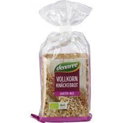 Crackers integrali cu mix de seminte bio x200g Dennree