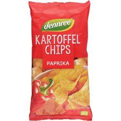 Chipsuri din cartofi cu ardei bio x125g Dennree