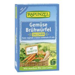 Cuburi de supa de legume cu putina sare bio x8buc Rapunzel