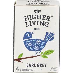 Ceai negru bio Earl Grey x 20 plicuri bio, 45g Higher Living