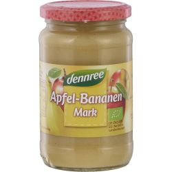 Piure de mere cu banane fara zahar bio x360g Dennree