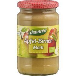 Piure de mere cu pere fara zahar bio x360g Dennree