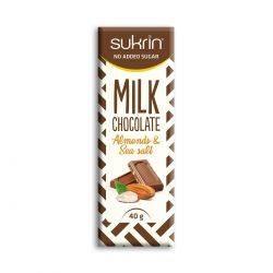 Ciocolata cu lapte, migdale si sare de mare x 40g Sukrin