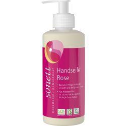 Sapun lichid cu trandafir bio pentru maini si corp x300ml Sonett