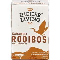 Ceai bio Rooibos caramel 20 plicuri 40g Higher Living