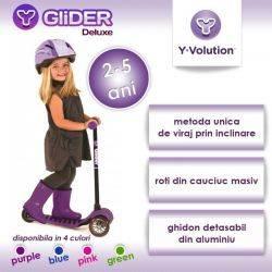 Trotineta Glider Deluxe Purple Yvolution