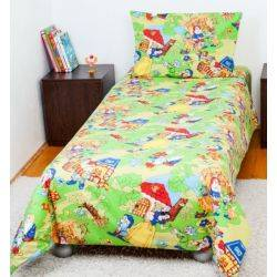 BebeDeco Lenjerie pat copii 1 persoana Alba ca Zapada