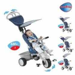 Tricicleta Smart Trike Recliner Stroller 4in1 Denim