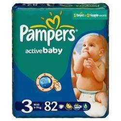 Pampers Active Baby 3 Midi Jumbo x 82buc