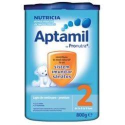 Lapte praf Nutricia Aptamil 2 x 800g