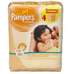 Pampers - Servetele Quattro Naturally
