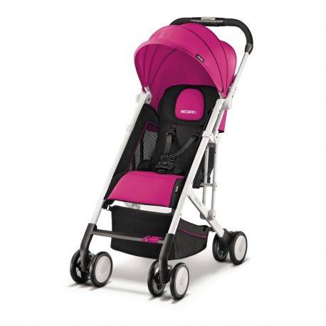 Carucior pentru Copii Easylife Roz cu Cadru Alb