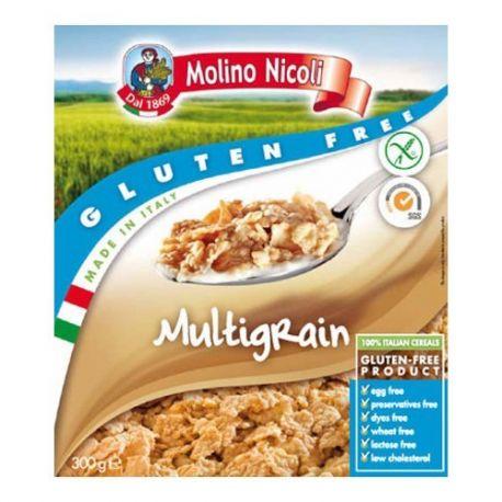 Fulgi multicereale fara gluten x 300g Molino Nicoli