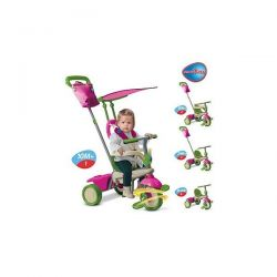 Tricicleta Smart Trike Vanilla 4in1 Pink Green