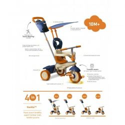 Tricicleta Smart Trike Vanilla 4in1 Orange Blue
