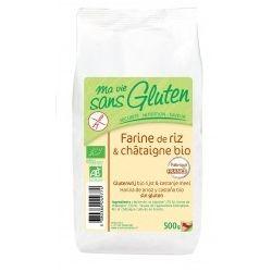 Faina de orez si de castane fara gluten bio x 500g Ma vie sans gluten