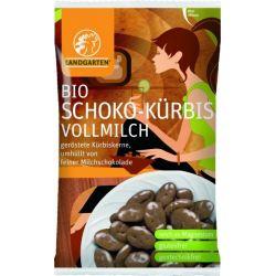 Seminte de dovleac in ciocolata cu lapte bio x 55g Landgarten