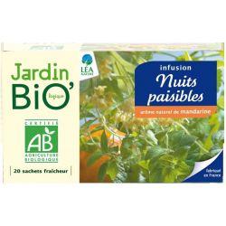 Ceai din plante: Nopti linistite bio (20 plicuri) 30g JardinBio