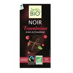 Ciocolata neagra cu zmeura bio x 100g JardinBio