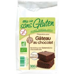 Preparat pentru prajitura cu ciocolata fara gluten bio x 300g Ma vie sans gluten