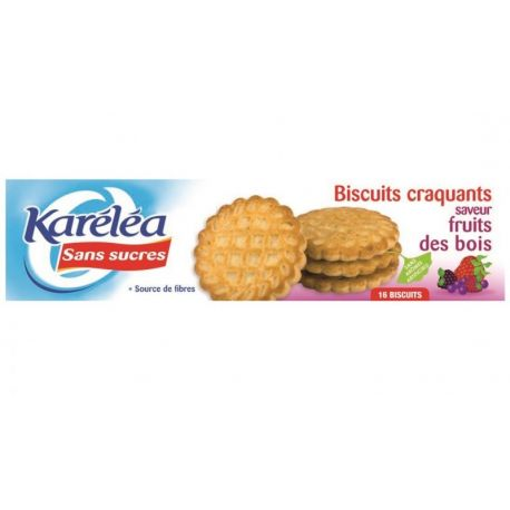 Biscuiti cu fructe de padure fara zahar x 132g Karelea