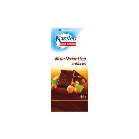 Ciocolata neagra cu alune intregi x 150g Karelea