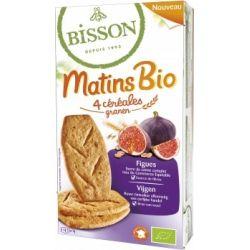Biscuiti din 4 cereale cu smochine bio MATINS x 200g Bisson