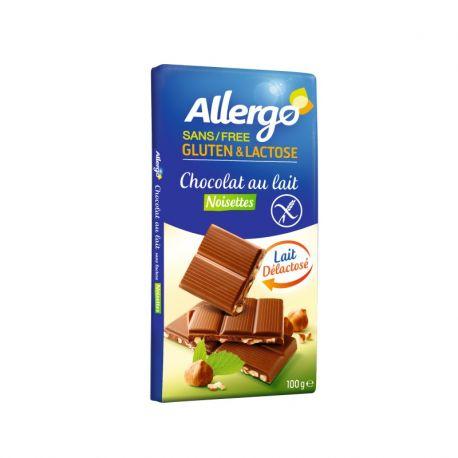 Ciocolata cu alune fara lactoza si gluten x 100g Allergo
