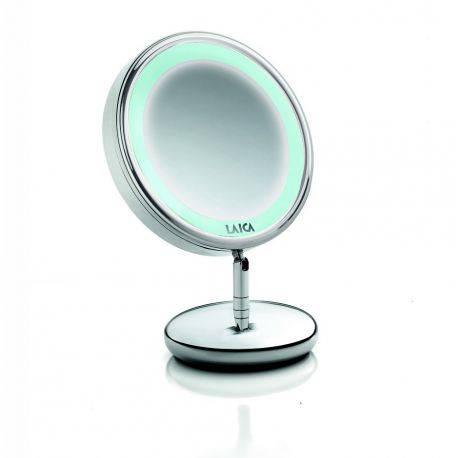 Oglinda cosmetica cu picior si iluminare LED Laica