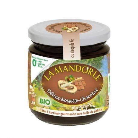 Crema de ciocolata si alune fara gluten, lactoza, soia x 400g La Mandorle